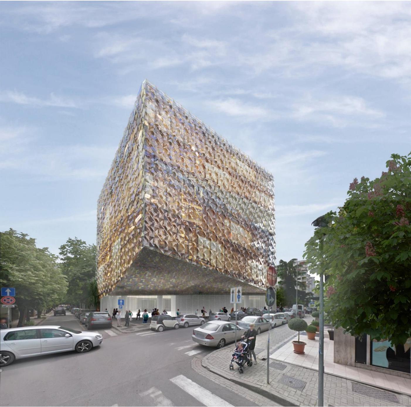 Architectural render of Stefano Boeri's Bllok.