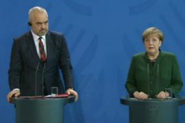 Rama Visits Germany to Discuss Donors' Conference with Merkel