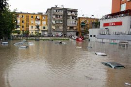 Floods Cover Albania, Three Victims Reported