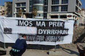 Durrës Citizens Protest Against Destruction of Archeological Heritage