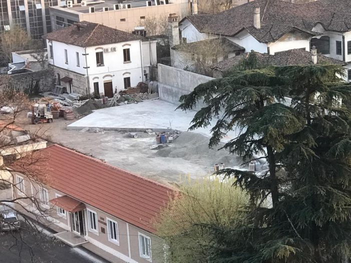 Construction Work inside Tirana's Castle, Another Archeological Zone Destroyed