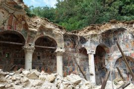 St. Athanasius Monastery in Leshnica Collapses, Minister Kumbaro Silent on Campaign Trail