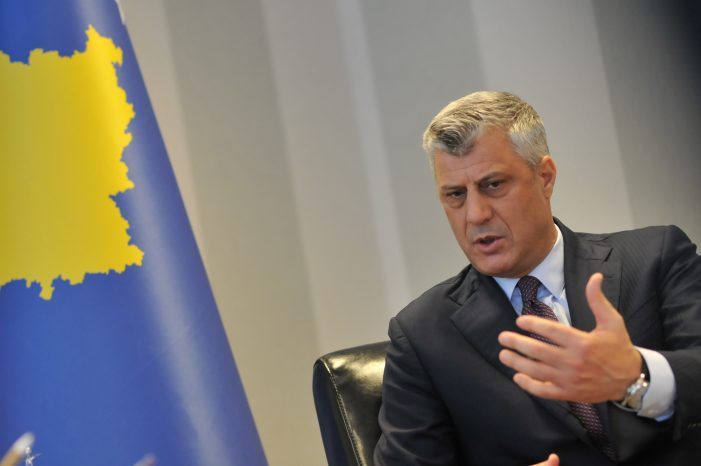 Thaçi: Solution to Conflict with Serbia Is Full Recognition of Independence