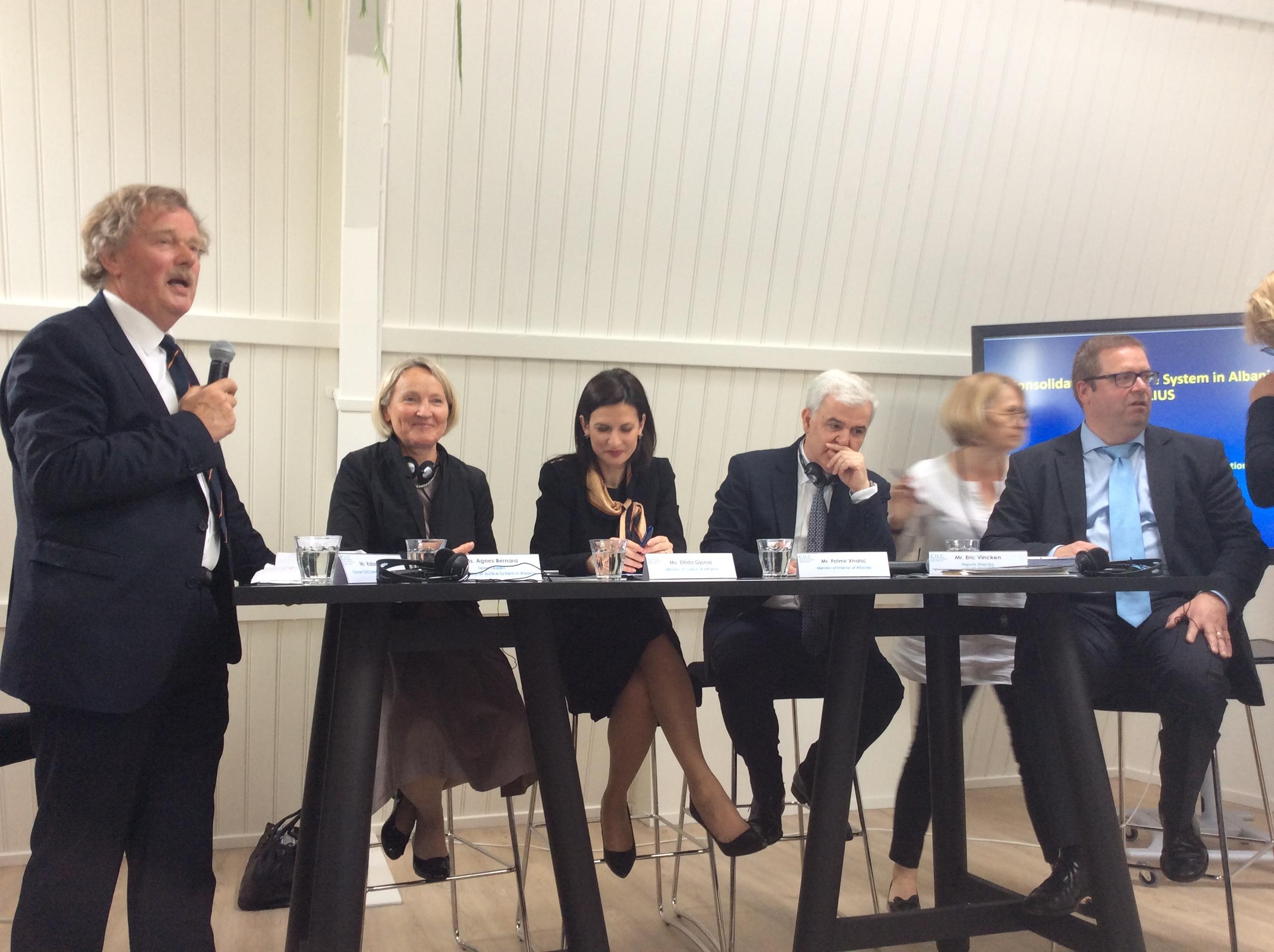 "A Surreal ""Debate"" with Gjonaj and Xhafaj in The Hague"