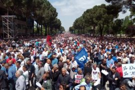 Tens of Thousands of Albanians March Against the Government
