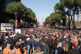 Thousands of Albanians Protest Against the Rama Government