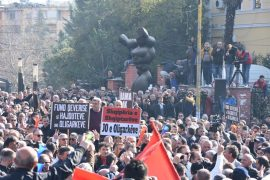 Thousands of Albanians Protest against Government