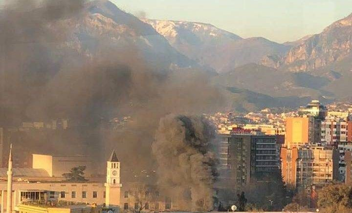 """Convenient"" Fire Destroys Property in Center of Tirana"
