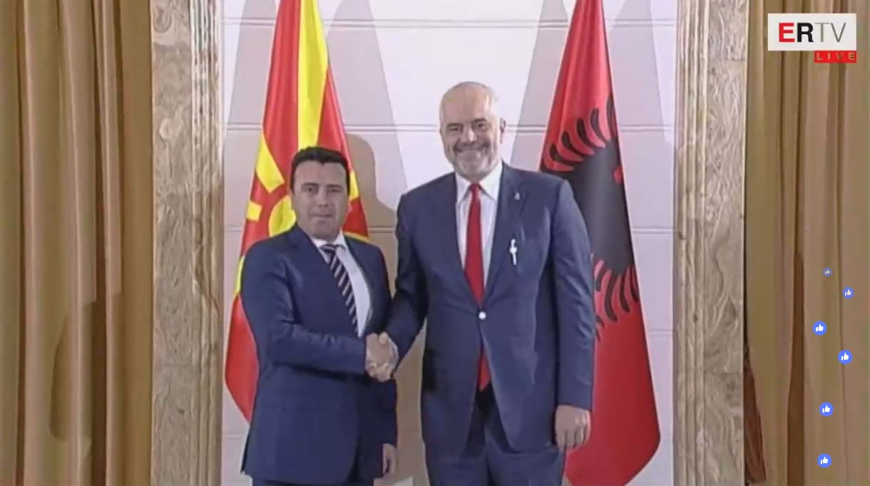 North Macedonian PM Zaev Visits Tirana, Will He Ask about Gruevski's Escape?