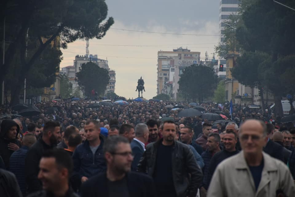 Albanian Police Use Tear Gas to Disperse Large Protest Against Government