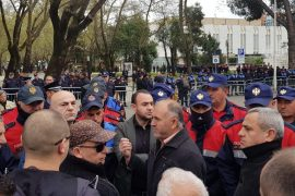 Opposition Holds Weekly Protest in Front of Parliament