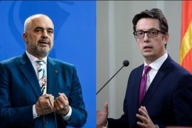 Albanian PM Says Albania and N Macedonia Should Be Treated the Same in Their EU Path