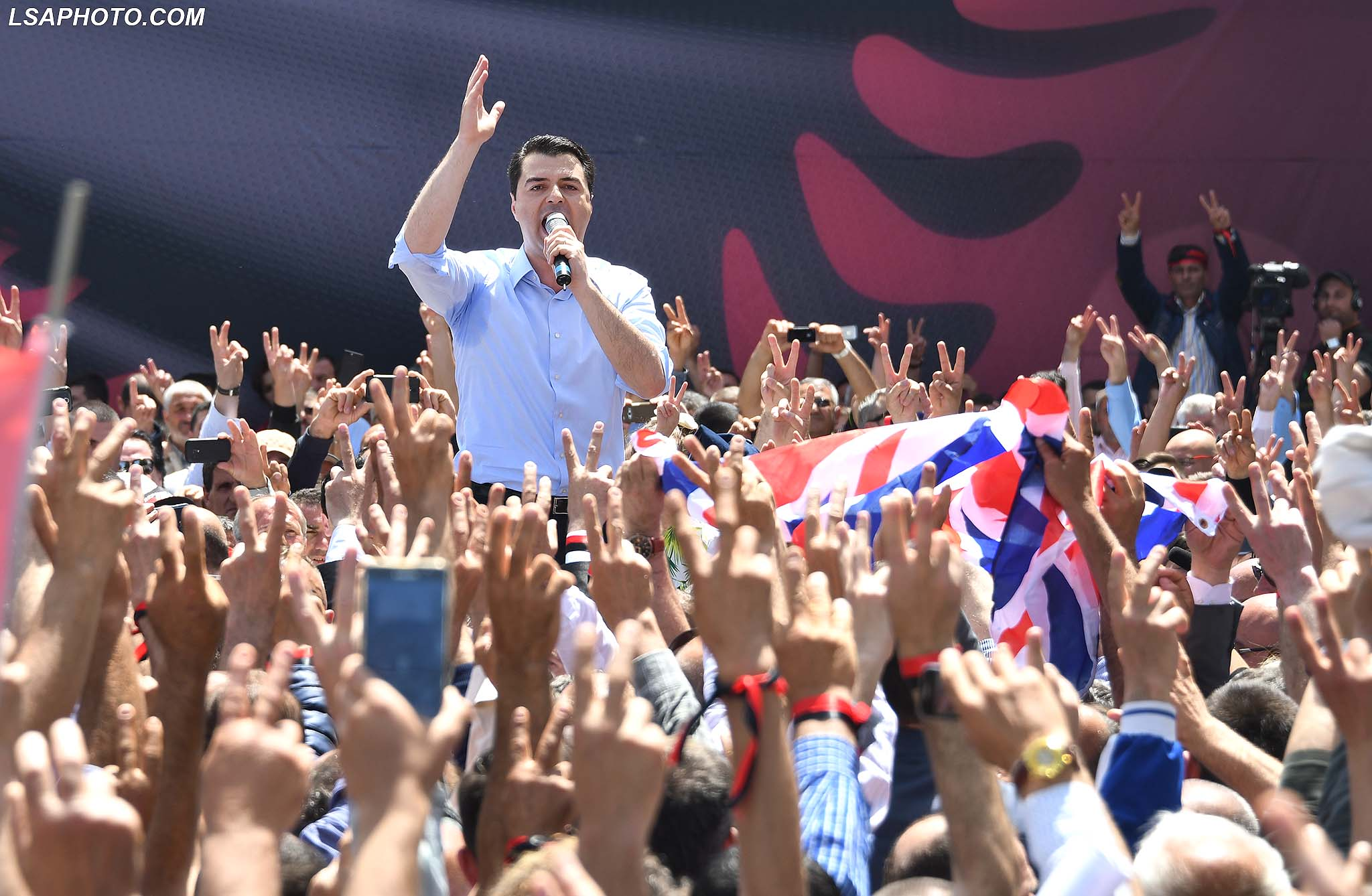 Albanian Opposition Holds Another Large Anti-Government Protest
