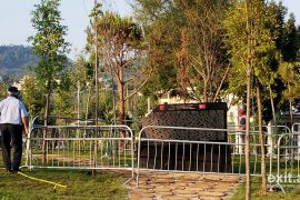Monument to Turkish Coup in Tirana Vandalised