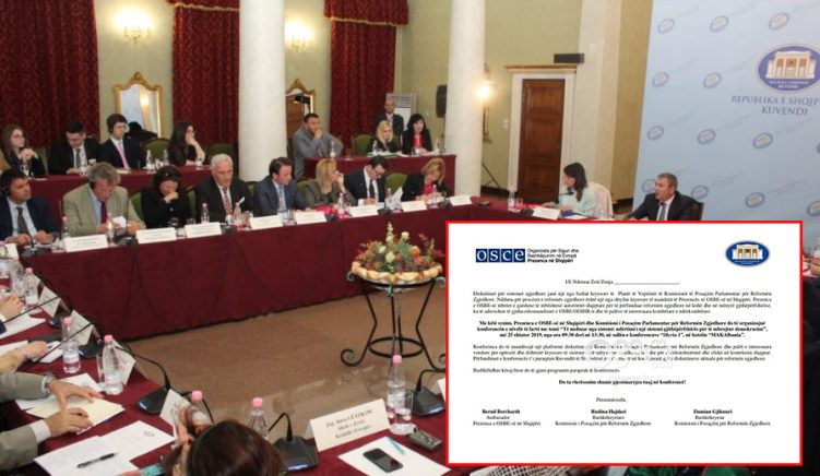 Albanian Opposition Joins the OSCE-Sponsored Round Table Discussion on Electoral Reform