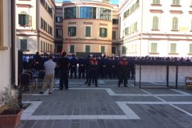 New Police Officers Sworn In While National Theater Resistance Continues
