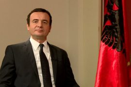 Kosovo's Prime Minister Praises Resistance against Demolition of Albania's National Theatre