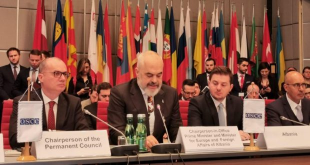 Albania Presents Its Chairmanship Priorities to OSCE Permanent Council