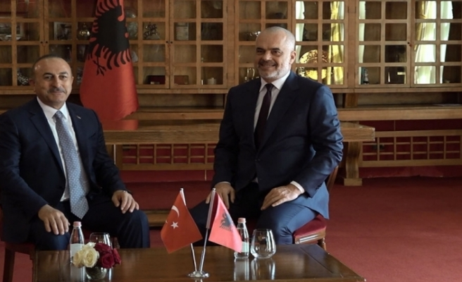 Turkish Foreign Minister Visits Albania, Monument at Lake Park Repaired