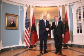 Albanian Prime Minister Meets U.S. Secretary of State Mike Pompeo