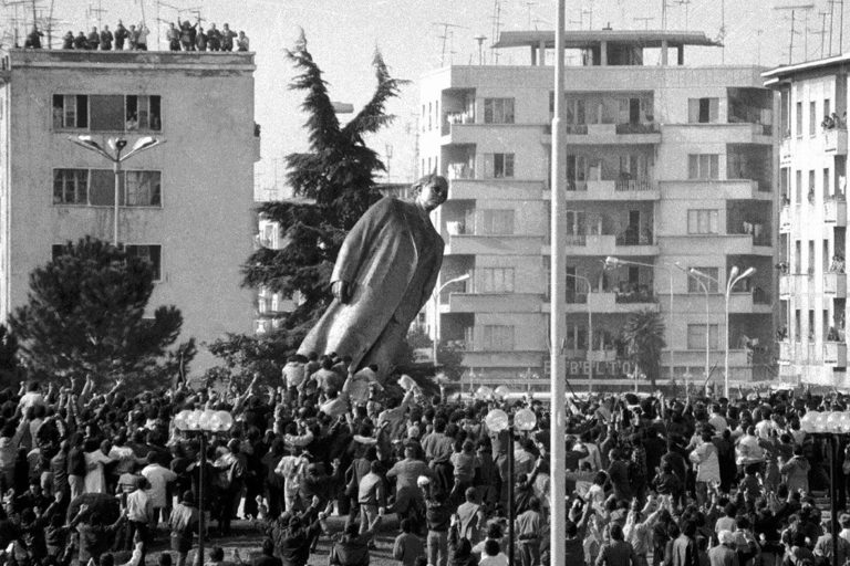 29 Years Since Toppling of Enver Hoxha's Statue in Tirana