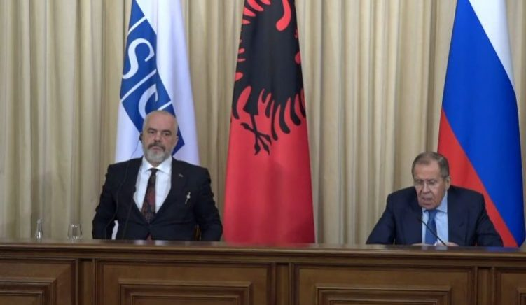 Rama in Russia: Lavrov Supports Negotiations Between Serbia and Kosovo