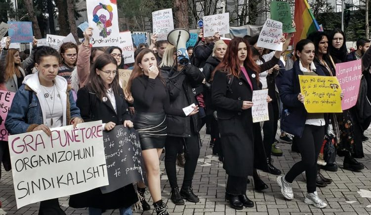 Albanian Women Demand Equality, End to Gender-Based Violence in Tirana Protest