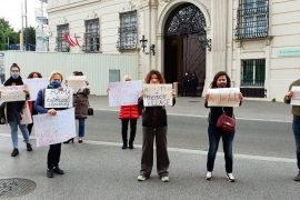 Albanians in Austria Protest against National Theater Demolition