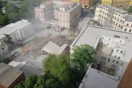 Destruction of Albania's National Theatre in Images