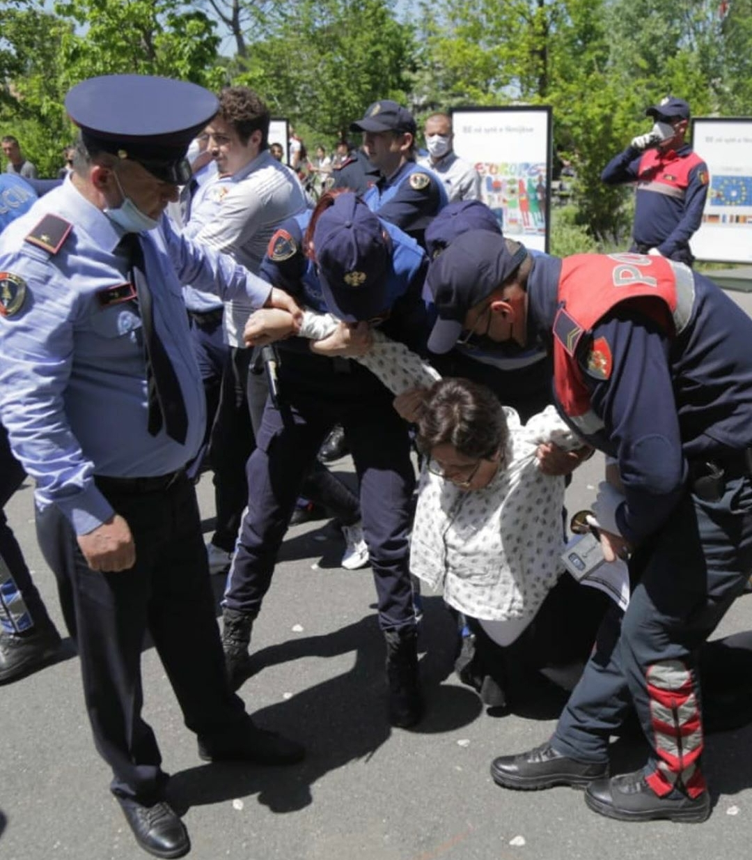 Albanian Civil Society Protest Forcibly Dispersed by Police