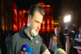 Albanian Opposition Leader Calls on Citizens to Protect National Theatre from Demolition by Government