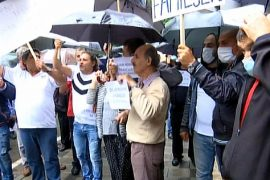 Albanian Public Transport Workers Protest Over COVID-19 Impact