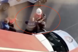 Albanian State Police Officer Filmed Repeatedly Punching Man in Handcuffs