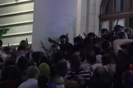 Serbian Police Uses Tear Gas Against Thousands Protesting Reinstatement of COVID-19 Curfew