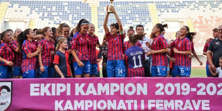 KF Vllaznia Win Albanian Women's Football League for 7th Time