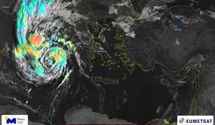 'Extremely Dangerous' Cyclone Hitting Ionian Coast Tonight