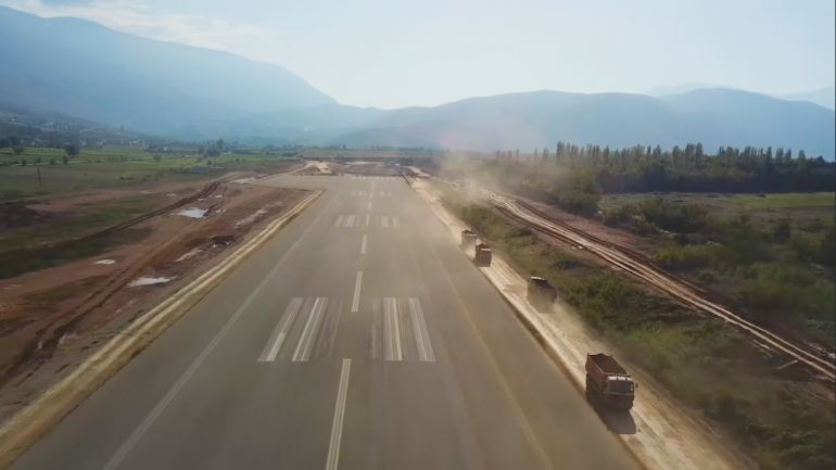 """Prime Minister Posts """"Propaganda"""" Video of Unfinished Kukes Airport"""