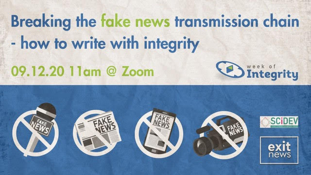 Upcoming Event: Breaking the Fake News Transmission Chain- How to Write with Integrity