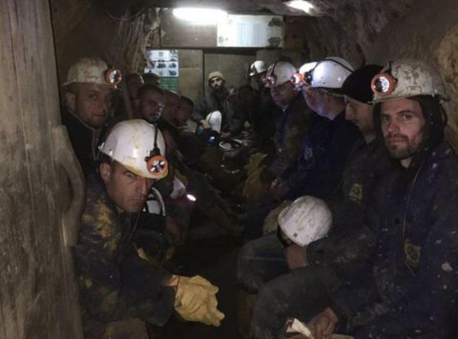 Over 200 Kosovo Miners Protesting For Their Salaries