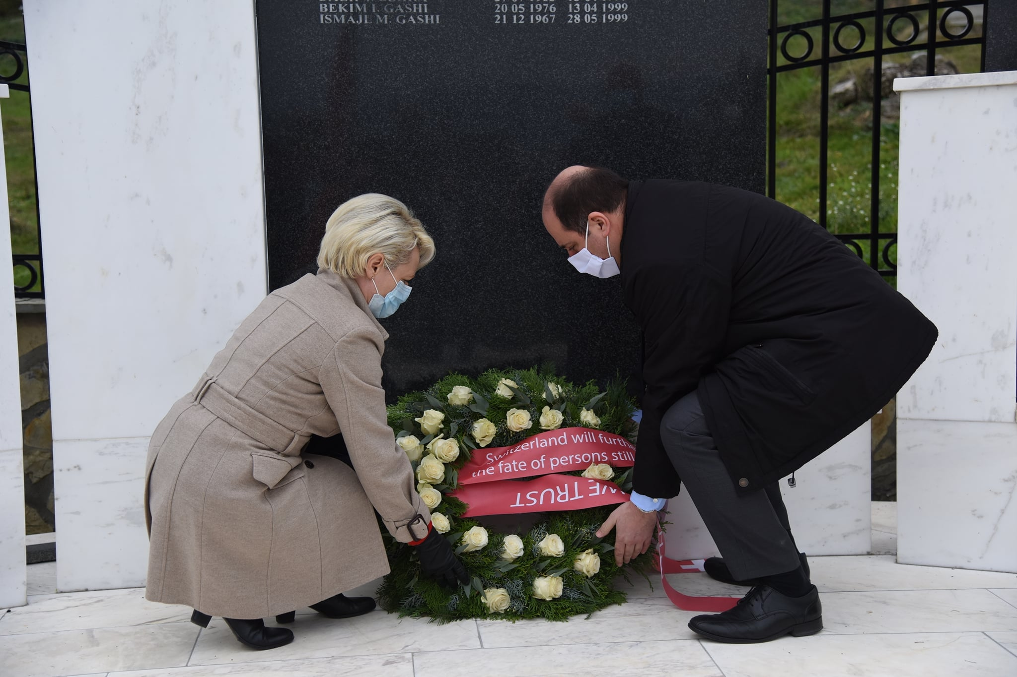 Swiss President of Parliament Visits One of the Most War Torn Villages in Kosovo