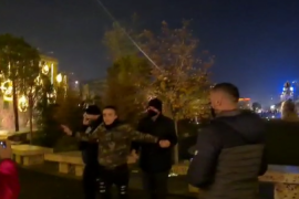 Young Man Detained Before Start of Protest in Tirana