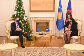 Kosovo's Acting President Discusses Snap Elections with the EU Representative