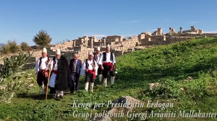 Albania Iso-Polyphonic Group Perform Song About Turkish President