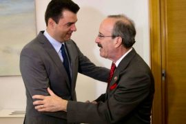 Albanian Opposition Leader Thanks US Congressman Engel for Supporting Kosovo
