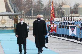 Erdogan Welcomes Rama with an Official Ceremony