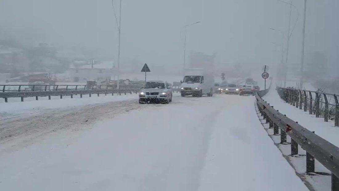 Main Roads in Albania Cleared Three Days after Snowfall