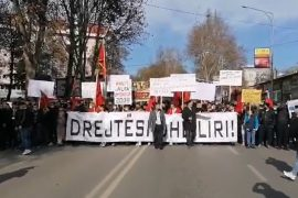 Protest Erupts in Skopje against the Sentencing of 5 Albanians for the Killing of 5 Macedonians