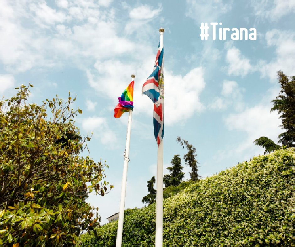 British Embassy in Tirana Raises LGBT Flag for LGBT History Month