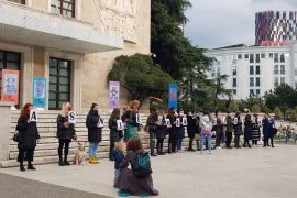 Women in Tirana Protest Against State Failure to Prevent Domestic and Gender-Based Violence