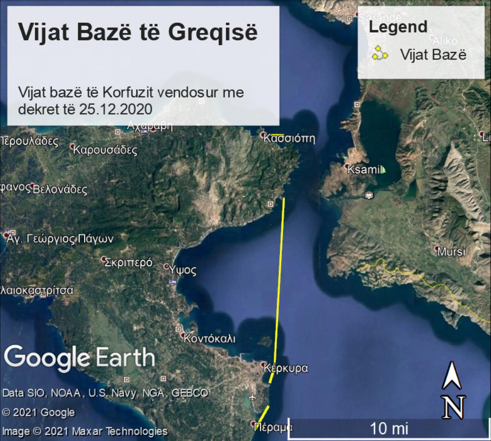 Γραμμή 2 για τα χωρικά ύδατα της Αλβανίας